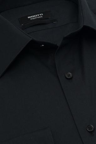 Slim Black Plain Shirt