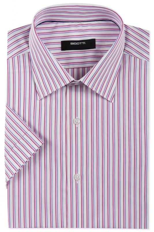 Slim White Stripe Shirt