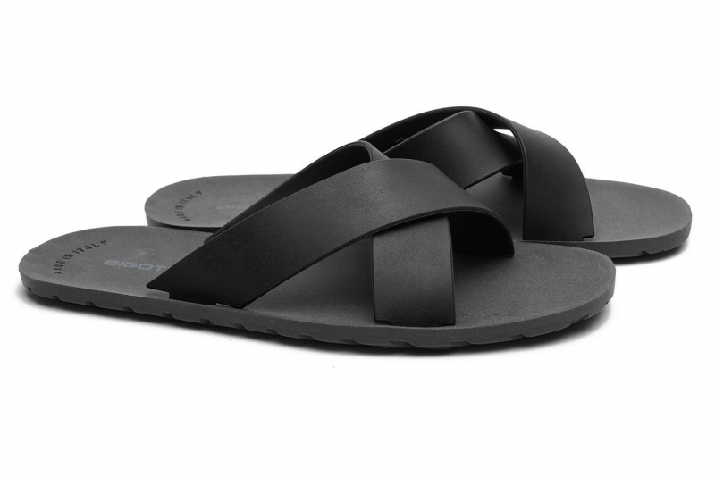 Black Polyester Shoes