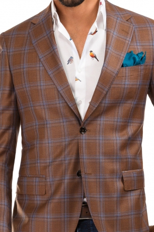 Orange Check Blazer
