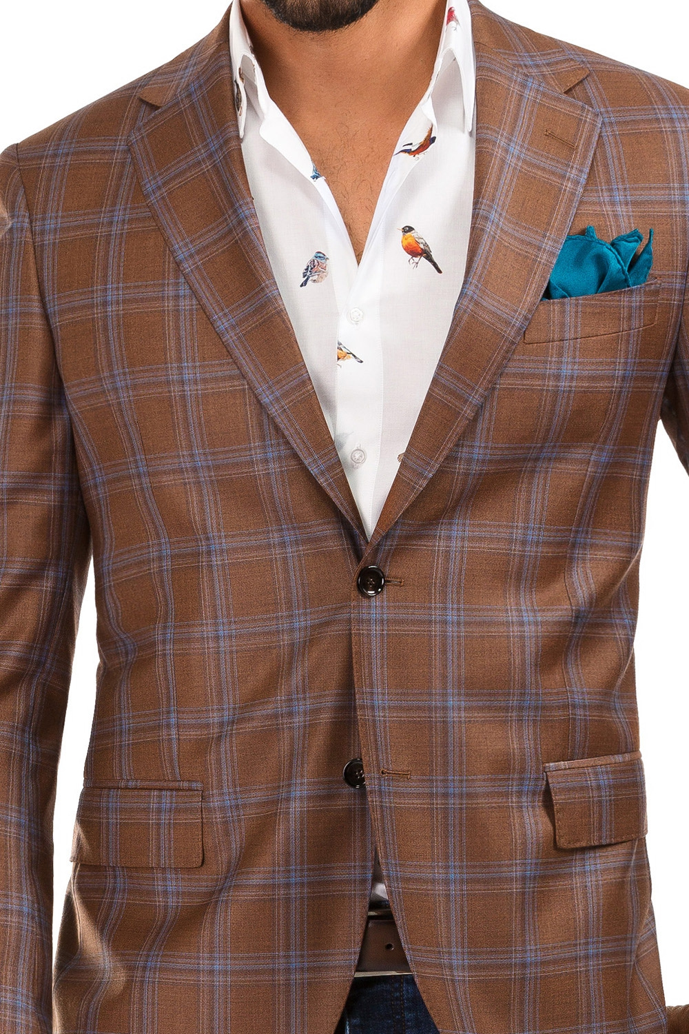 Orange Check Blazer 1