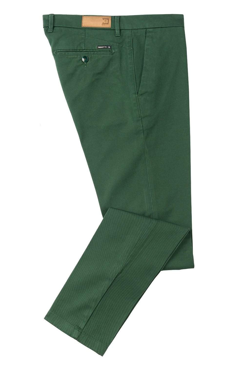 Superslim Green Plain Trouser 1