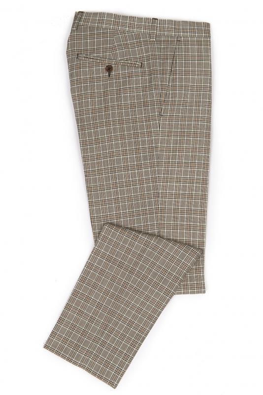 Slim Grey Check Trouser