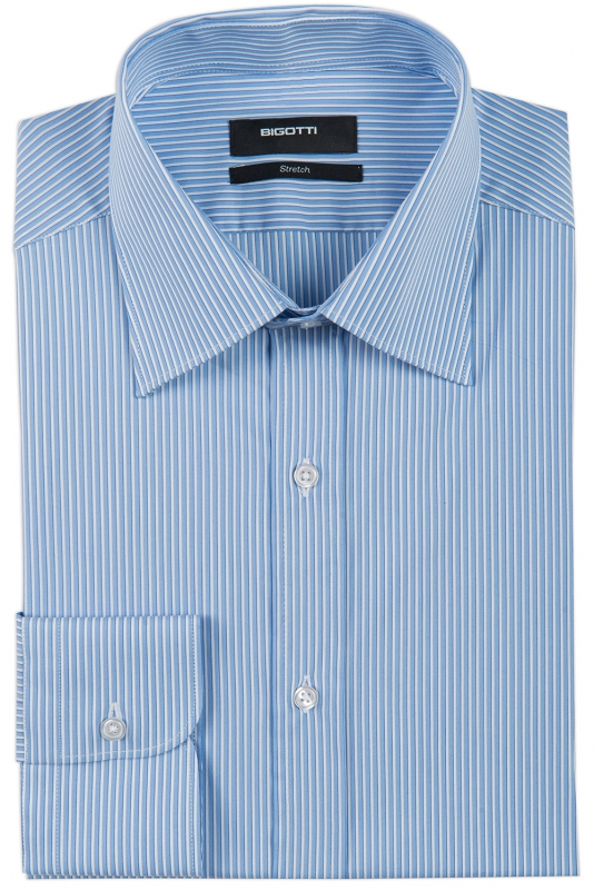 Slim Blue Stripe Shirt