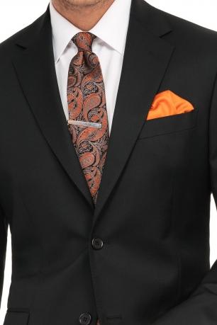 superslim black plain suit