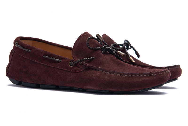 Burgundy Suede leather Shoes
