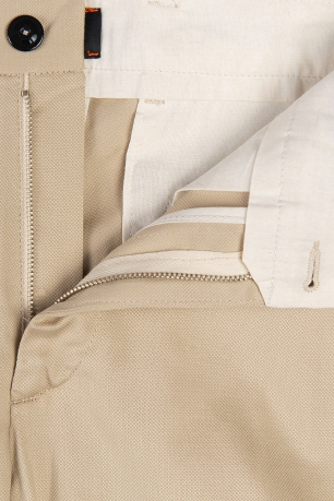 Slim body Beige Plain Trouser