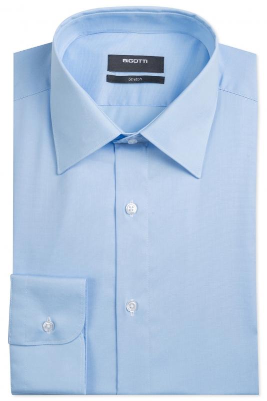 Slim Light blue Plain Shirt