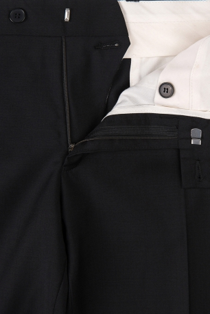 Superslim Black Plain Trouser