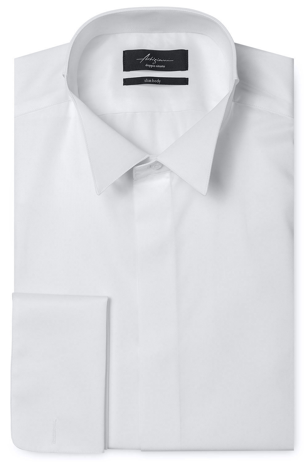 Slim White Plain Shirt 0