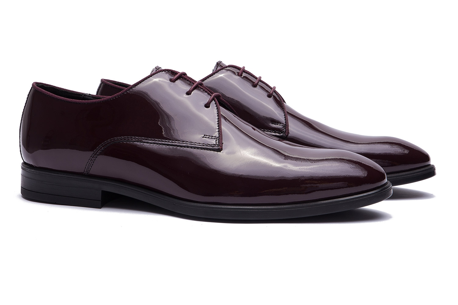 Burgundy Genuine leather Shoes 0