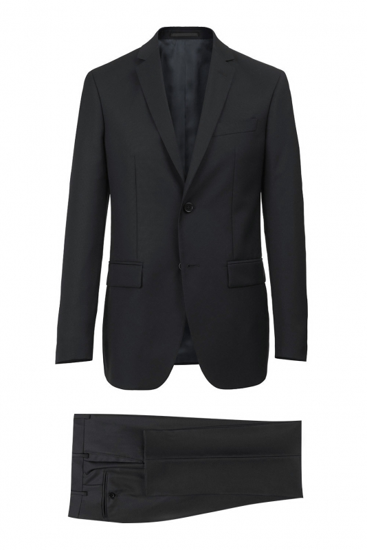 Regular Black Plain Suit