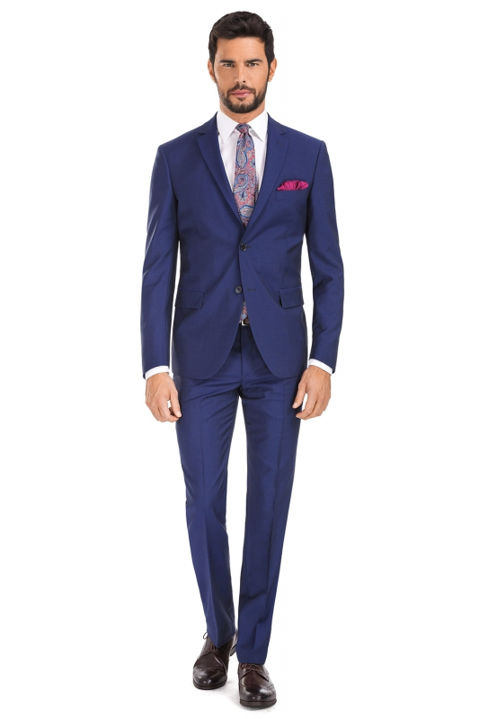 Regular Blue Plain Suit