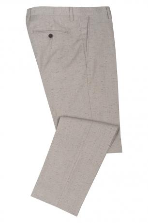 Slim Beige Geometric Trouser