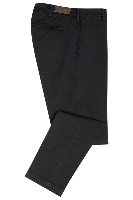 Regular Black Plain Trouser