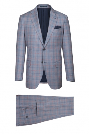 Superslim Light blue Check Suit