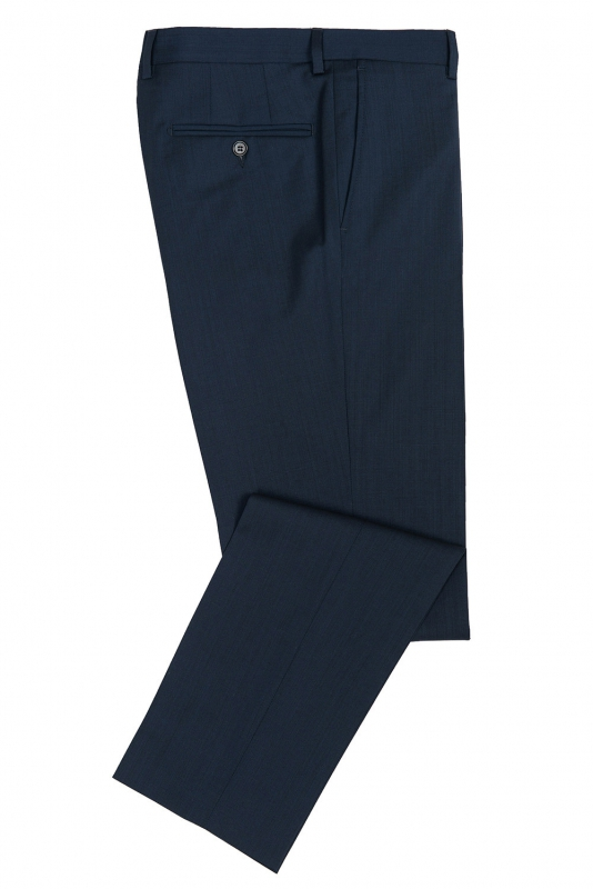 Superslim Blue Plain Trouser
