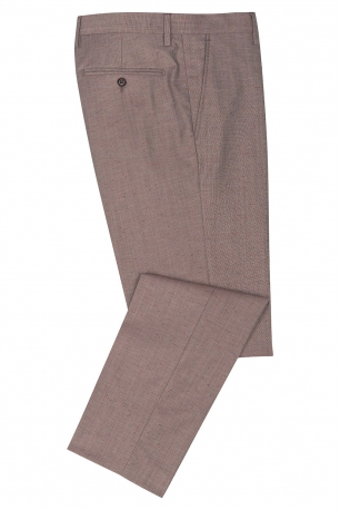 Slim Brown Geometric Trouser