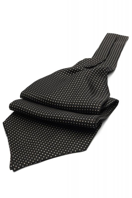 Black Geometric Ascot tie