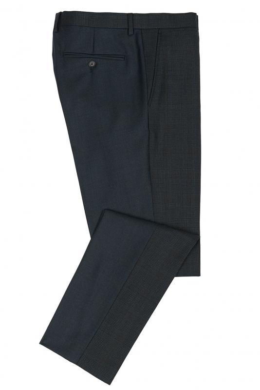 Slim Navy Check Trouser