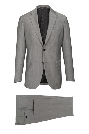 Superslim Grey Plain Suit