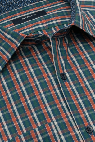 Superslim Multi-colored Check Shirt