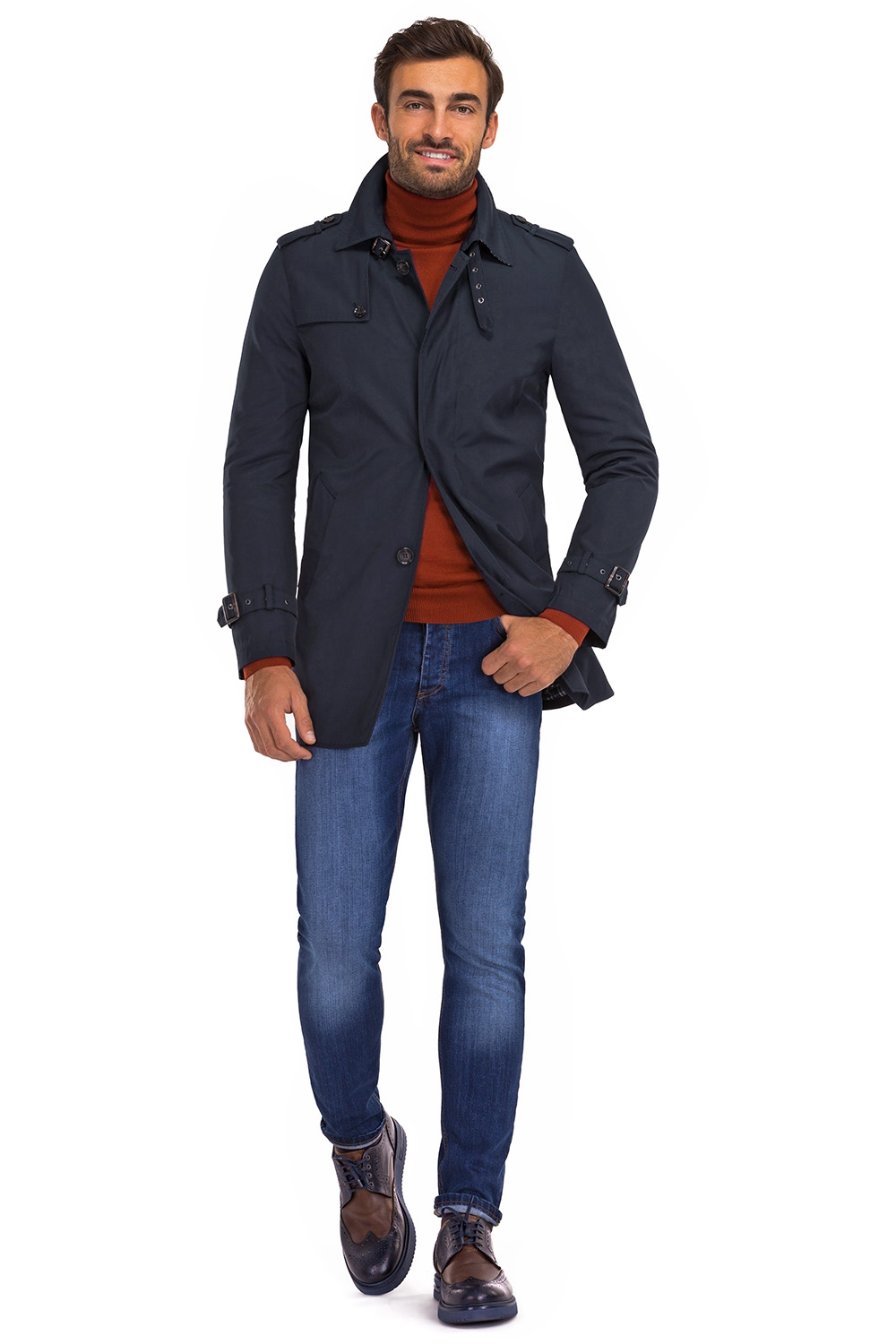 Navy Plain Jacket 4