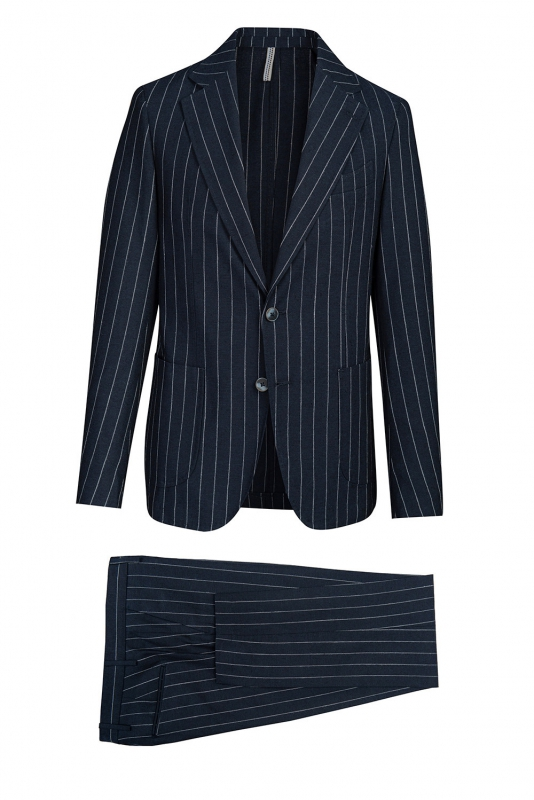 Navy Stripe Suit