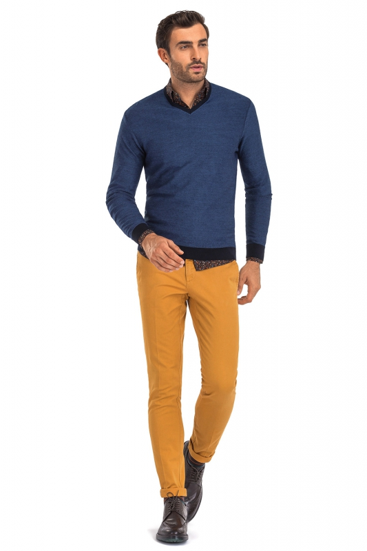 Superslim Yellow Plain Trouser