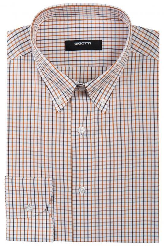 Superslim White Check Shirt