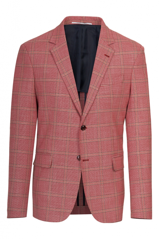 Slim Red Check Blazer