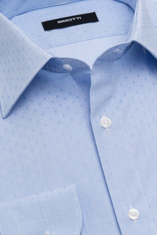 Slim Light blue Geometric Shirt