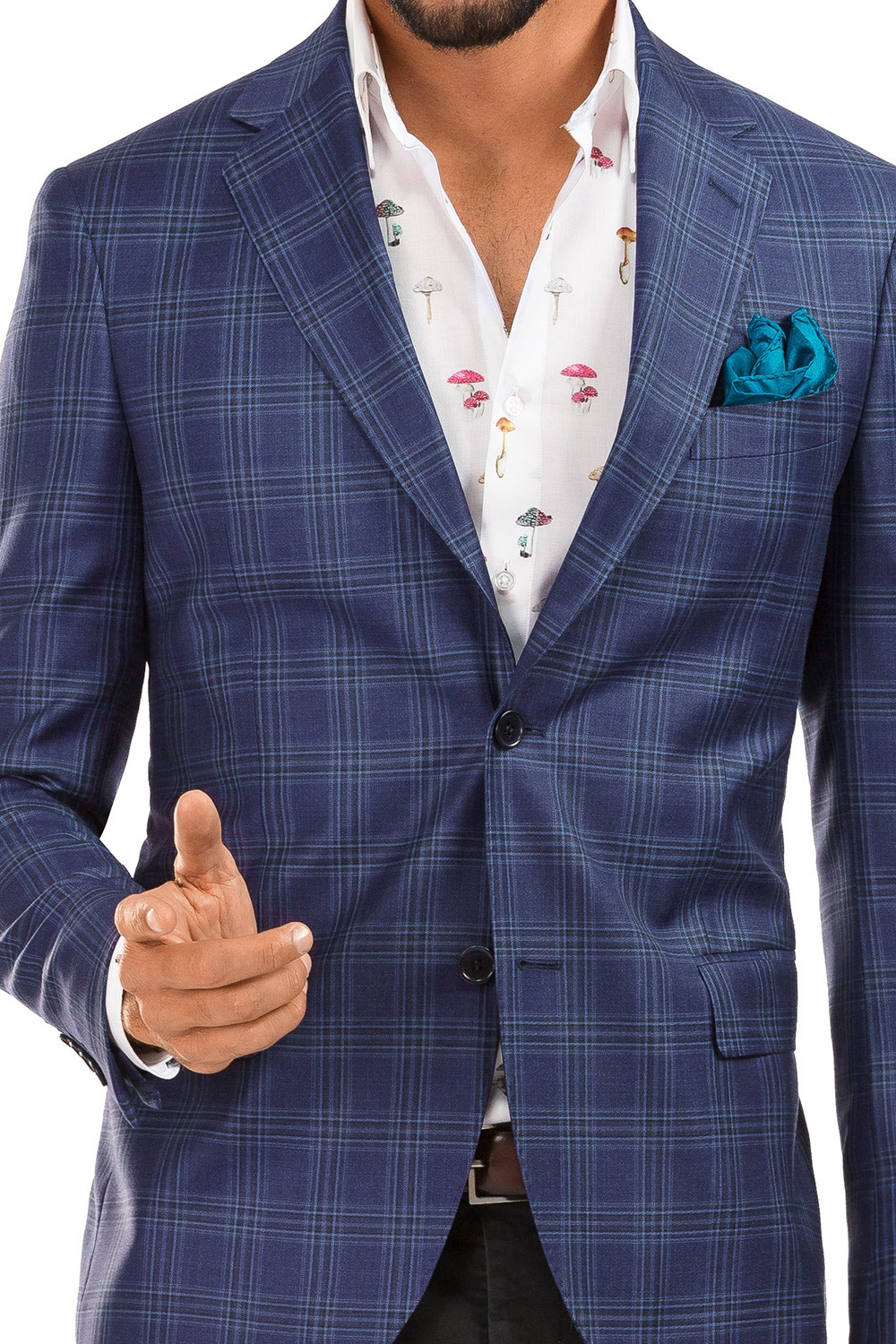 Purple Check Blazer 1
