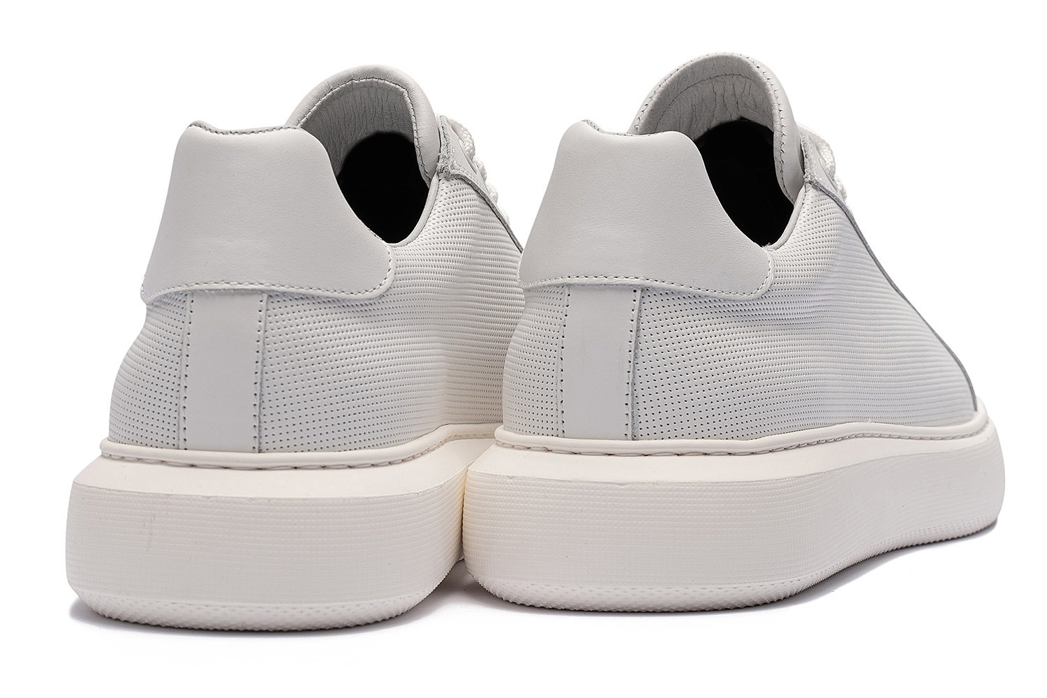 White Genuine leather Shoes 2