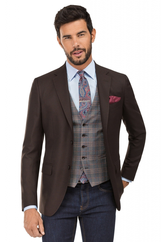 Brown Plain Blazer