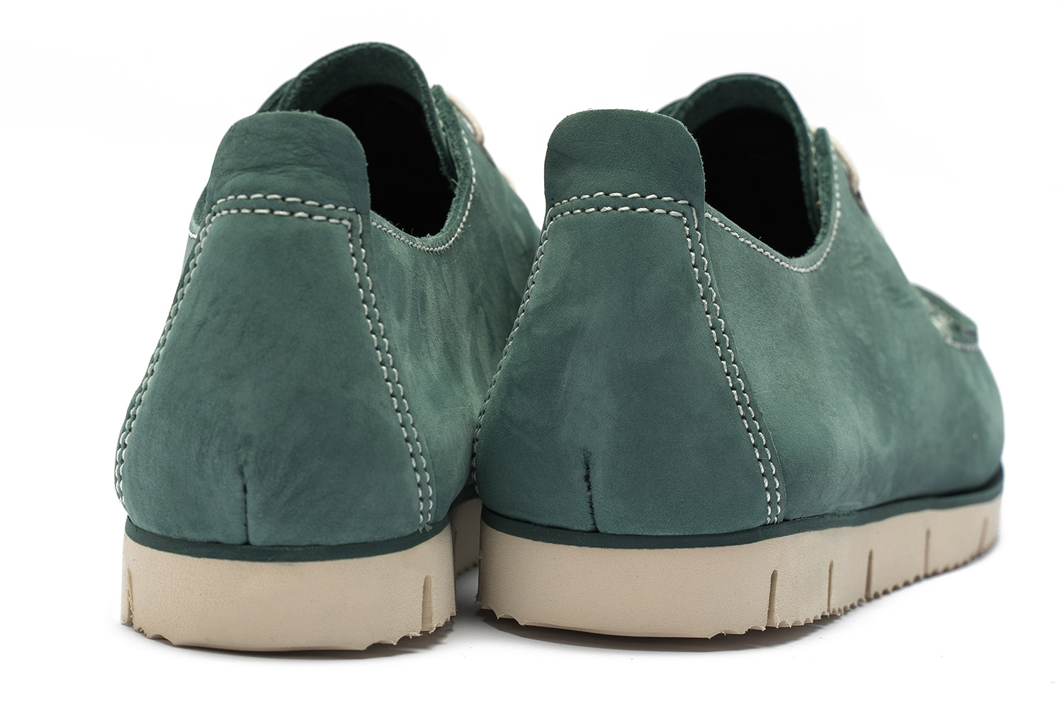 Green Nubuck leather Shoes 2