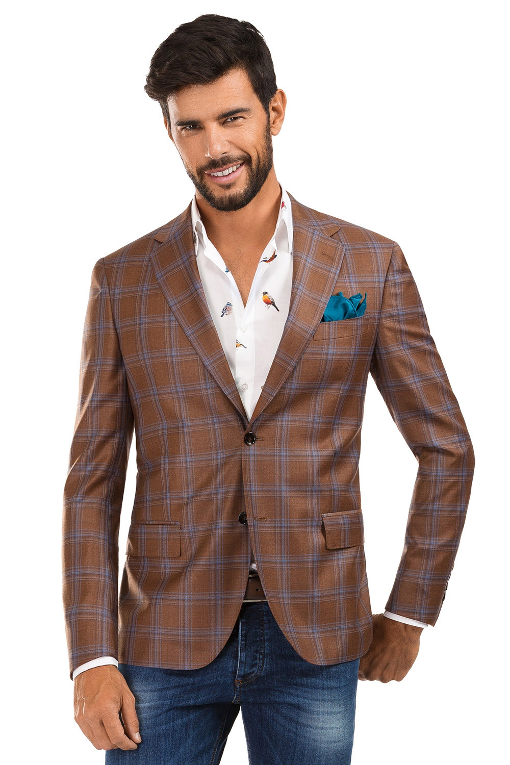 Orange Check Blazer 4