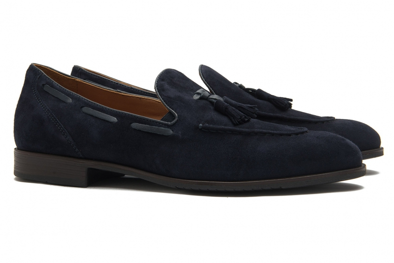 Blue Suede leather Shoes