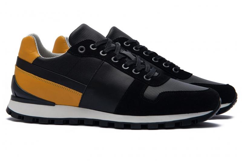 Black Matt suede leather Shoes