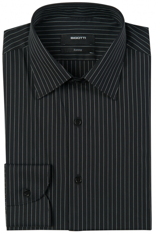 Superslim Black Stripe Shirt