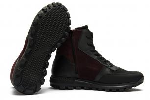 Orange Matt suede leather boots