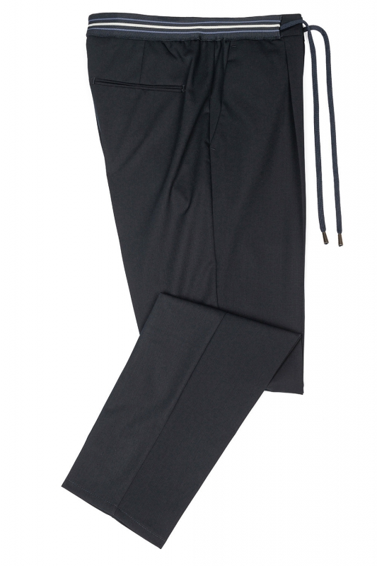 Slim body Navy Plain Trouser