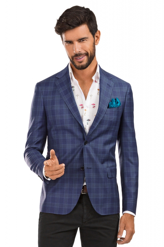 Purple Check Blazer