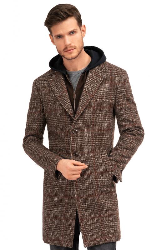 Brown Check Coat