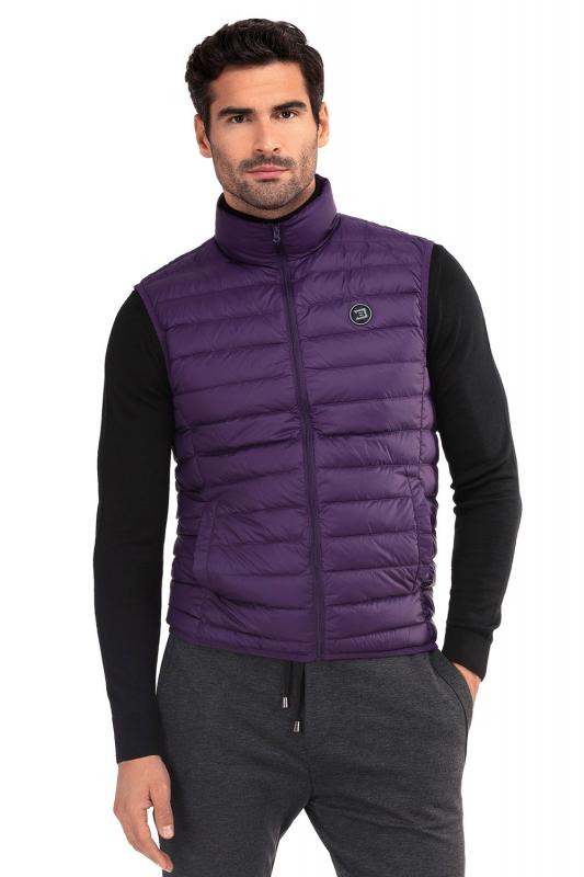 Slim Purple Plain Waistcoat