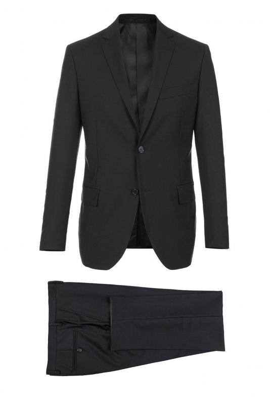 Slim Black Plain Suit