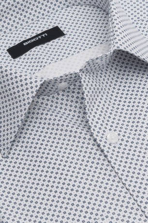 Superslim White Geometric Shirt