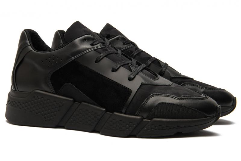 Black Leather, textile, nabuk Shoes