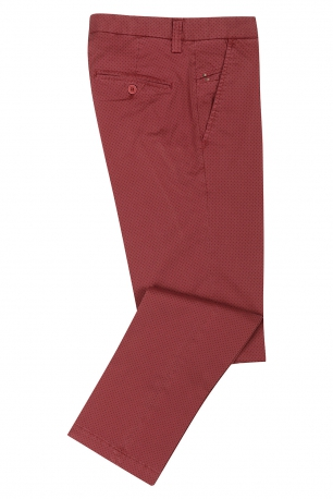 Red Geometric Trouser