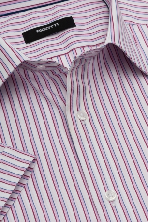 Superslim White Stripe Shirt
